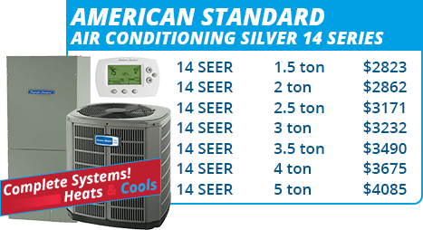 American Standard Silver 14 Series Units