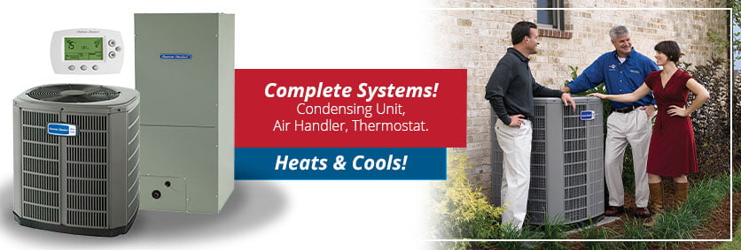 Condensing Unit, Air Handler, and Thermostat